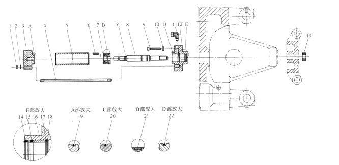 液压油缸在农业机械中已普遍运用,现按结构及用途整理,希望农机操作者多加了解......    液压工作油缸按其工作条件要求不同,可把油缸结构设计成多种形式。常见的有活塞式油缸、柱塞式油缸和复合油缸等结构形式。 (1)活塞式油缸 活塞式油缸的结构组成如图1所示。主要组成零件有:缸体、活塞、活塞杆、端板和密封圈等。  图1 活塞式油缸结构 1端盖板:2缸体;3活塞,4一密封环;5活塞杆; 6导向套;7密封圈;8压盖 活塞式油缸在液压传动中应用较多,这种油缸工作时,主要是通过向油缸中活塞两侧交替输送