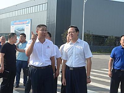 县委书记刘启华一行莅临三雷重工检查指导工作