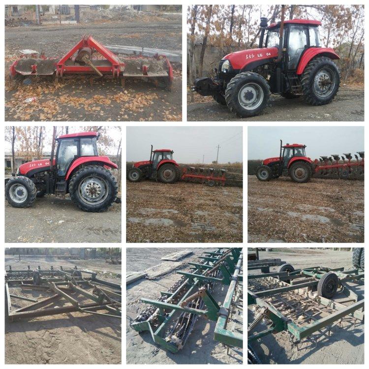 出售2009年东方红1404拖拉机带全套农具