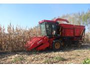 山西省农机局引进首台茎穗兼收型玉米收获机