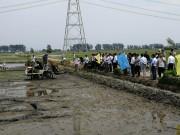 水稻长秧龄大苗同步开沟插秧机试验成功