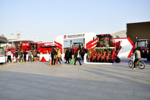 2017武汉国际农机展勇猛机械展台风采
