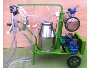 惠农移动式真空奶牛挤奶机