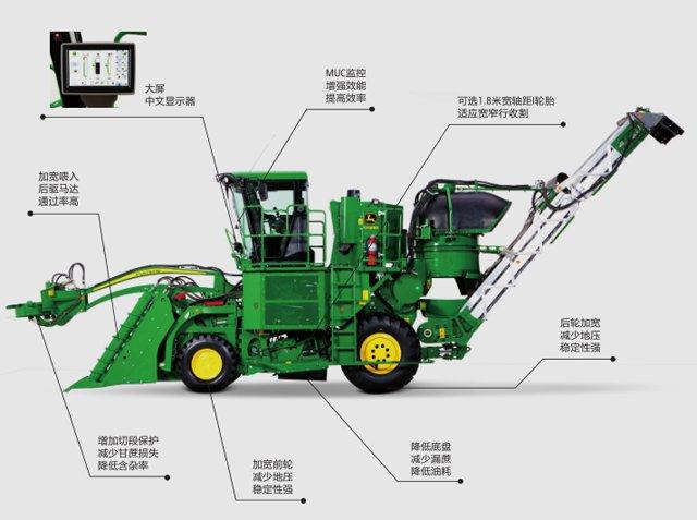 约翰迪尔CH530甘蔗收割机