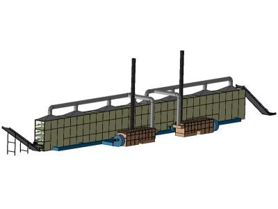 中农机多层网带式烘干系统
