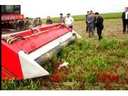 新疆牧神4JZ-3600自走式辣椒收获机作业视频