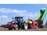 纽荷兰8340翻地+纽荷兰T7.220+格立莫GB43马铃薯种植机作业视频
