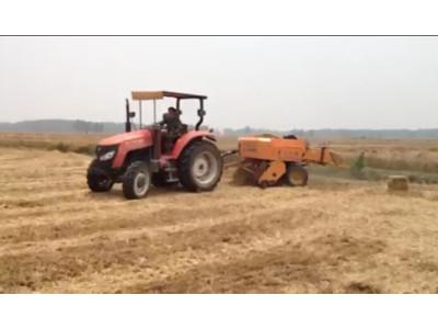 九宫牌YLYQ型打捆机打捆小麦秸秆作业视频(安徽淮南)