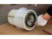 空气滤清器保养--春雨4LZ-7小麦收获机的调整保养