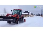 东洋拖拉机配清雪机
