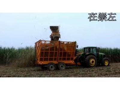 广西柳工4GQ-350甘蔗收获机大型机实地运行视频