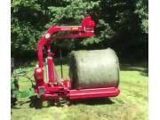 博格FP160圆捆包膜机作业视频