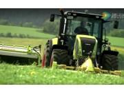科乐收(CLAAS)割草并铺机视频