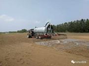 法国弼松(Pichon)液体粪肥撒播机亮相垦区畜牧工作现场推进会演示现场