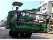 金大豐4LZ-5水稻收割機現場演示視頻