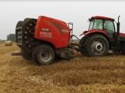 库恩FB3130圆捆机小麦秸秆打捆实地作业视频