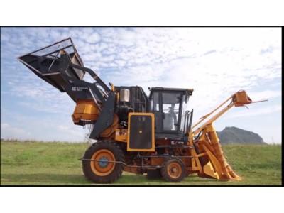 柳工S718切段式甘蔗收获机现场演示视频