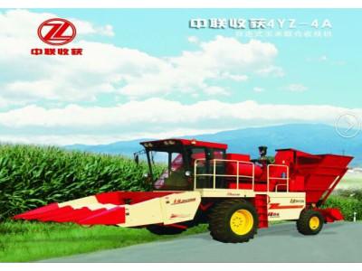 中联4YZ-4A摘穗剥皮型自走式玉米收获机