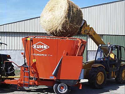 库恩EUROMIX I 870立式单搅龙饲料搅拌机