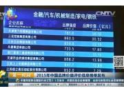 五征位列中国机械制造品牌八强