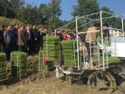 国内首台有序抛秧机在双峰研发成功