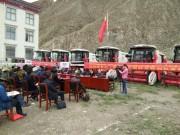 春雨联合收割机进驻西藏琼结 助力当地农业机械化水平提升