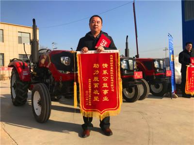 """农机助力曲阳县农业产业扶贫 潍坊华夏""""一马当先"""""""