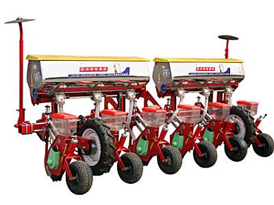 农哈哈2BYFSF-6春地仿形玉米勺轮播种机