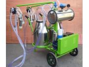 双桶移动式移动式挤奶机