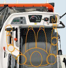 久保田4LBZ-105(PRO208)半喂入聯合收割機座椅