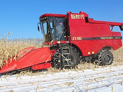 山东亚丰新时代4YZL-6玉米籽料收获机