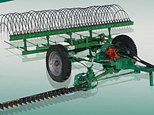 内蒙华德9GL-2.4牵引式割搂草机