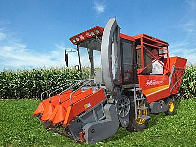 河北英虎4YZB-4B型自走式玉米收獲機