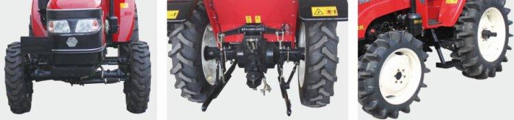 沃得奥龙WD404轮式拖拉机可调轮距