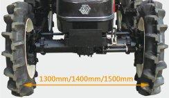 沃得奧龍WD554輪式拖拉機前輪輪距有級可調