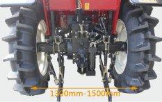 沃得奥龙WD554轮式拖拉机后轮轮距无级可调