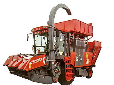 山东国丰4YZQP-4型自走式穗茎兼收玉米收获机