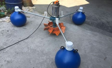 建超1.5KW2.2KW3KW叶轮式增氧机