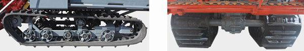 沃得DR150A半喂入聯合收割機更強底盤結構,更高離地間隙