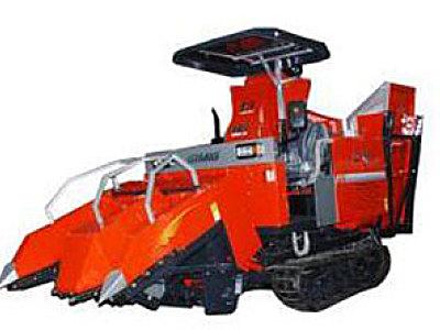 巨明4YZPL-2履带式玉米收获机