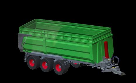 牧神7CX系列三橋(雙橋)全掛自卸拖車系列