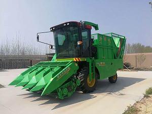 新乡银丰4YZB-4自走式穗茎兼收玉米收获机