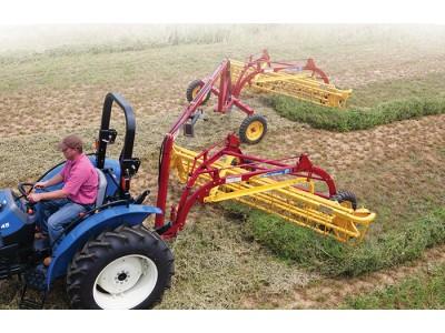 紐荷蘭Rolabar256柵欄式摟草翻曬機