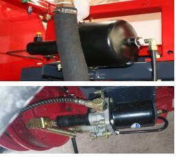 东方红4YZ-3D1自走式玉米收获机离合制动装置
