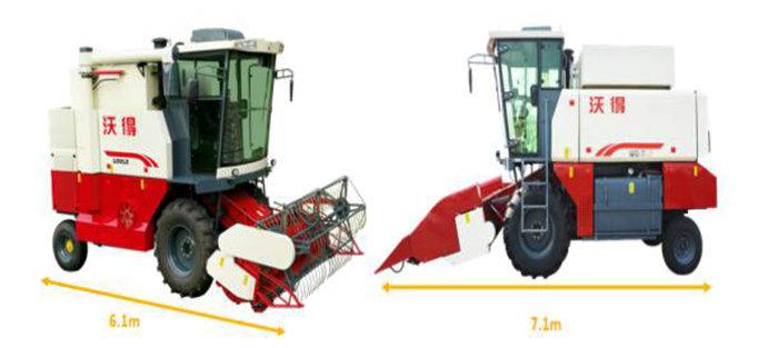 沃得4LZ-7C轮式纵轴流收割机