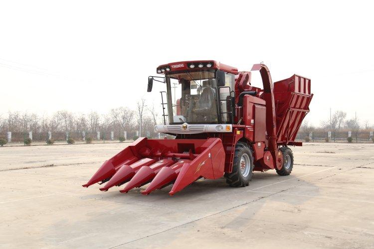 勇猛4YZ-4AS茎穗兼收型自走式玉米收获机