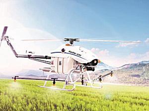 汉和CD-15油动单旋翼植保无人机