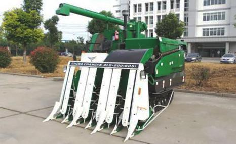泰州常发4LB-200型履带自走式半喂入水稻联合收割机
