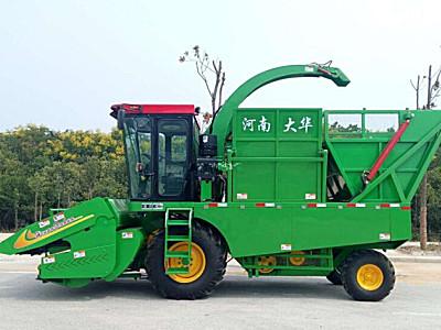 唐河大华4YZB-4A自走式穗茎兼收玉米收获机