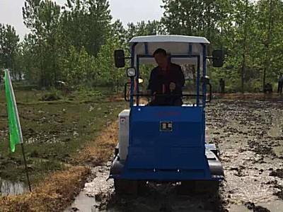 柳林1GZ60履帶自走式旋耕機作業視頻